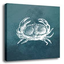 hd00010a canvas 2 on seafoam green canvas wall art with underwater crab canvas wall art 24 24 trendy wall squares