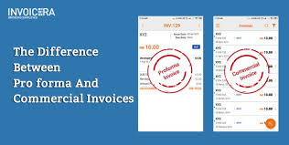 Proforma Invoice Vs Commercial Invoice Major Difference