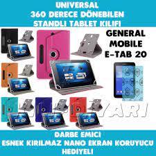 General Mobile E-Tab 20 10.1 inç Kılıf Stantlı Üniversal Tablet Kılıfı   Nano Ekran Koruyucu Hediyeli Fiyatı ve Özellikleri - GittiGidiyor