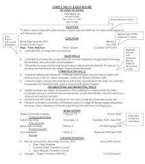 Skills In Resume Sample Skill Based Summarymples Professional