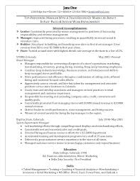 Financial Services Operations Manager Resume Dovoz
