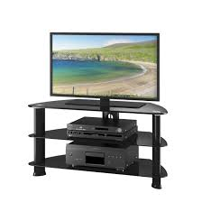 entertainment center for 50 inch tv. Shop Laguna Corner Satin Black TV Stand, For Up To 50\ Entertainment Center 50 Inch Tv T