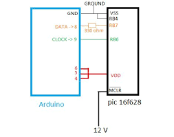 arduino can program pic too arduino take care and bingo this is a wiring diagram that soranne put together when developing a method of programming pic microcontrollers using an arduino board