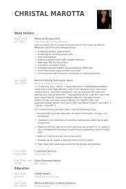 Receptionist Resume Examples Fascinating Medical Receptionist Resume Samples VisualCV Resume Samples Database