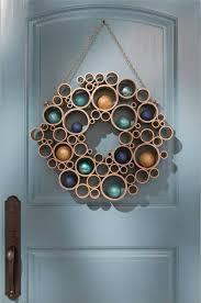 modern advent wreath door wreath Christmas ideas