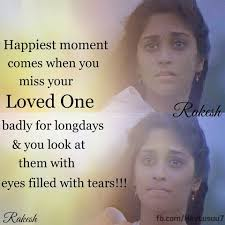 Happiest Moment Comes When You Miss Your Loved One Facebook Image