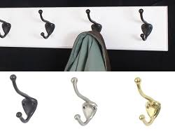 White Coat Hook Rack White Coat Racks with Solid Brass Aged Bronze or Satin Nickel Hooks 28