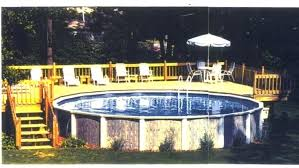 Above Ground Swimming Pool Deck Designs Simple Ideas