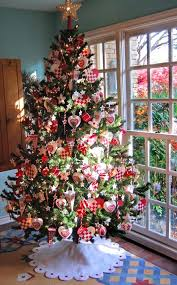... Christmas tree with golden and red accents. View ...