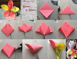 Flower Out Of Paper Video Diy Project Folding An Origami Flower Out Of Paper Livemaster