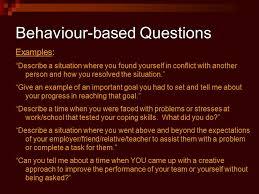 Behaviour Based Questions Job Interviews Job Interview Definition A Meeting Between The