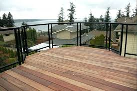 glass deck railing system clear deck railing surface mount single top clear glass rail g glass glass deck railing system