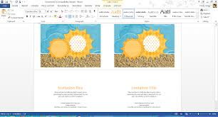 Picnic Template Free Summer Themed Templates From Microsoft