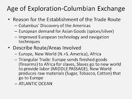 movement of people and goods thematic essay ppt video online  age of exploration columbian exchange