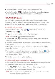 Polaris Office 5 Templates Polaris Office 5 Polaris Of Ce 5 Tools Lg Lgvk810 User Manual