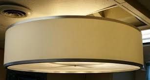image of drum pendant light plan
