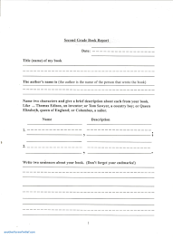 Excel Printable Writing Paper For 2nd Grade New Book Report