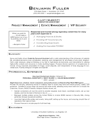 Security Executive Resume Sample Best Of Celebrity Personal Assistant Resume By Mia C Coleman