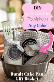 kitchen basket ideas for gifts. diy gift basket in a bundt pan kitchen ideas for gifts