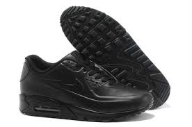 nike air max 90 leather shoes for mens all black j3142 us generous
