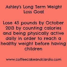 weight loss goal setting balancing today long term weight loss goal