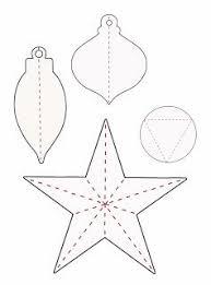 Christmas Ornament Templates Paper Christmas Ornaments