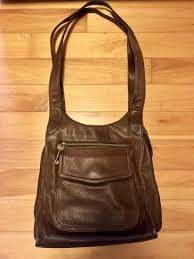 fossil leather purse handbag
