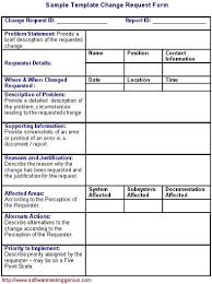 Change Management Form Template
