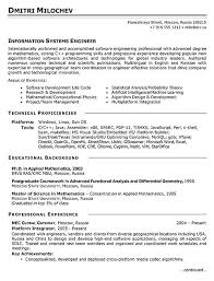 System Engineer Resume Free Resume Templates 2018