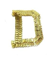 <b>Letter D</b> with BRIGHT Gold <b>Sequins</b>, No Beaded Edges 2 ...