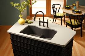 Granite Undermount Kitchen Sinks Elkay Antique Steel W Dark Granite Sink And Light Coutertop