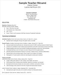 Teaching Sample Resume Teaching Sample Resume Best Solutions Of