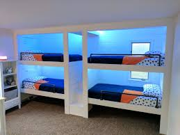 built in bunk beds! 4 person or 6 person bunk beds! My husband and
