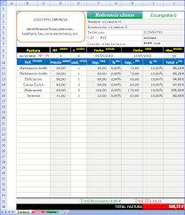 formato para facturas en excel modelo factura excel gratis