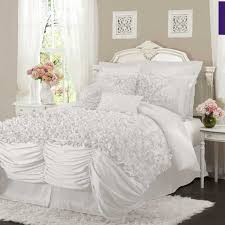Lush Decor Belle Bedding White Fluffy Comforter Set Elegant Bedroom Interior Design Ideas 100