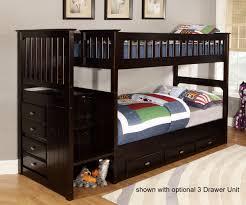 Kids Bedroom Furniture Bunk Beds Espresso 2914 Stair Stepper Bunk Bed Bed Frames Discovery