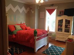 Monogram Decorations For Bedroom Love My Daughters New Bedroom Chevron Coral Teal Girls Bedroom