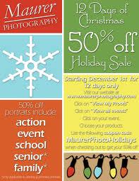 days of christmas % off holiday maurer photography 12 days of christmas 50% off holiday