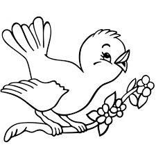 Disegno Di Uccelli In Primavera Da Colorare Per Bambini