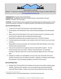 Duties Of An Event Planner Executive Event Organizer Job Description Sample What Are