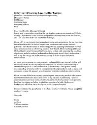 Nurse Cover Letters Sample Cover Letter For Nurses Entry Level
