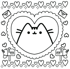New Pusheen Coloring Pages Free To Print Get Coloring Page