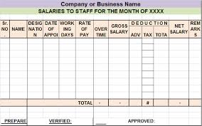 Salary Report Salary Sheet Report Template Free Report Templates