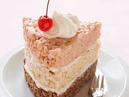 Rice Krispies Treat Neapolitan Cake Recipe