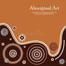aboriginal art ilration vector banner with text stock vector ilration of artistic