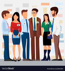 Business People Groups Presentation To Royalty Free Vector