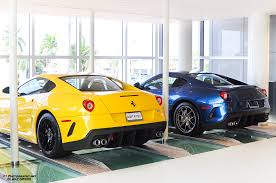 The most seen ferrari 599 gto on youtube, its just one video, yet there are so many copies! Ferrari 599 Gto Yellow And Blue Ferrari Palm Beach L Pics Teamspeed Com