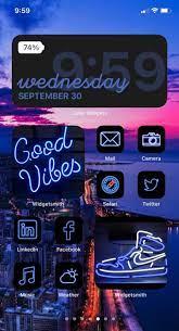Blue iOS 14 App Icon Pack