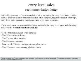 Entry Level Sales Resume Examples - Examples of Resumes