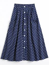 Skirt Patterns With Pockets Adorable 48% OFF] 48 Button Up Polka Dot Skirt With Pockets In DOT PATTERN